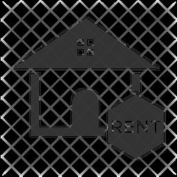 Home Rental Glyph Icon