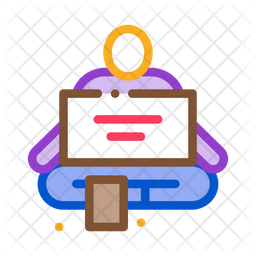 Homeless Sitting Colored Outline Icon
