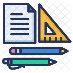 Homework Colored Outline Icon