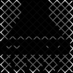 Hood Exhaust Glyph Icon
