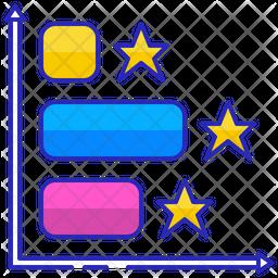 Horizontal bar graph Icon