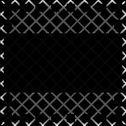 Horizontal Cropping Ratio Icon