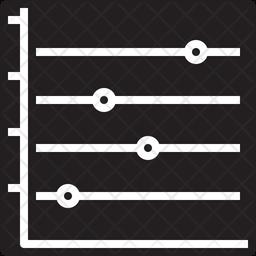 Horizontal dot line graph Icon