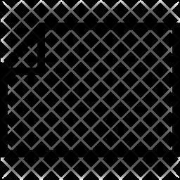 Horizontal file Icon