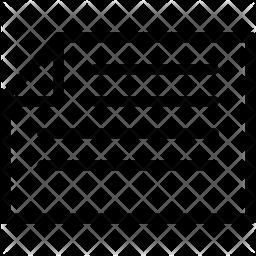 Horizontal text file Icon
