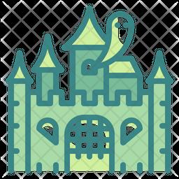 Horror Castle Dualtone Icon