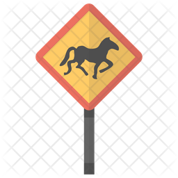 Horse Crossing Icon