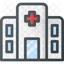 Hospital Colored Outline Icon