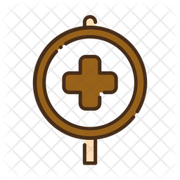 Hospital sign Colored Outline Icon