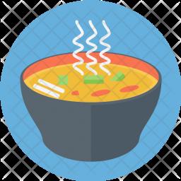 Hot, Soup, Bowl, Food, Liquid Icon