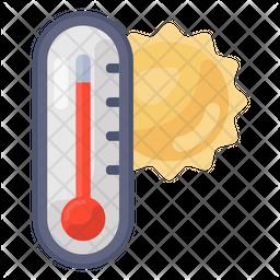 Hot Temperature Icon