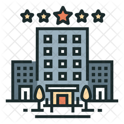 Hotel Colored Outline Icon