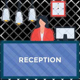 Hotel Reception Icon