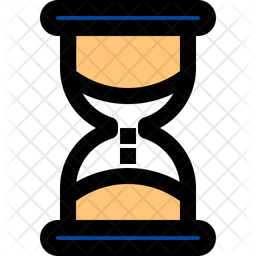 Hourglass Colored Outline Icon