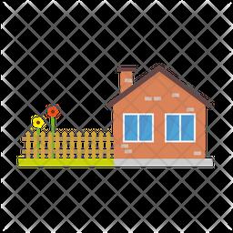 House with garden Icon