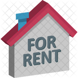 House For Rent Isometric Icon
