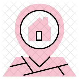 House Location Icon Of Colored Outline Style Available In Svg Png Eps Ai Icon Fonts