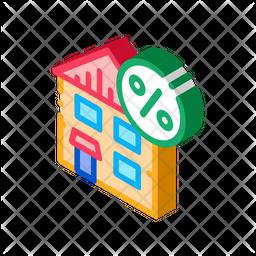 House Tax Percentage Icon