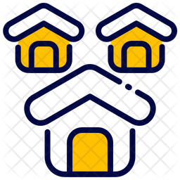 Housing Colored Outline Icon