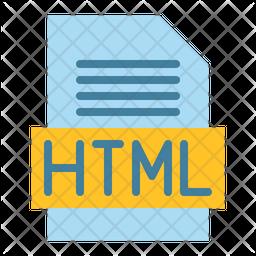 Html File Flat Icon