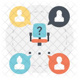 Human Resources Flat  Logo Icon