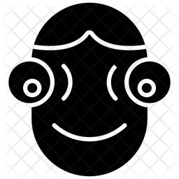 Humanoid Face Robot Glyph Icon
