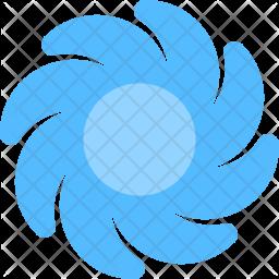 Hurricane Flat Icon