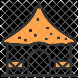 Hut Colored Outline Icon
