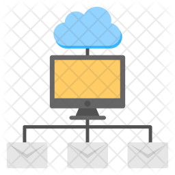 Hybrid Cloud Monitoring Flat Icon