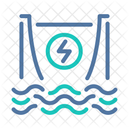 Hydroelectric Power Icon
