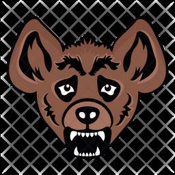 Hyena Face Icon