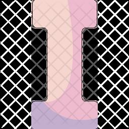 I Alphabet Icon
