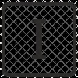 I Letter Icon