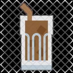 Ice Coffee Flat Icon