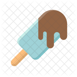 Ice cream bar with chocolate dip Icon