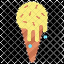 Ice Cream Cone Flat Icon