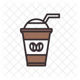 Iced Coffee Icon Of Colored Outline Style Available In Svg Png Eps Ai Icon Fonts
