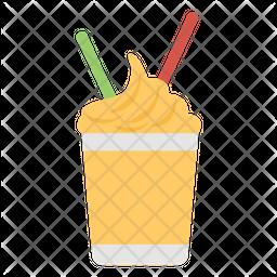 Iced Coffee Flat Icon