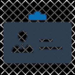 Id card Flat Icon