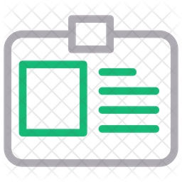 Id Card Line Icon