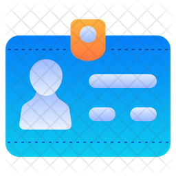 Id card Gradient Icon