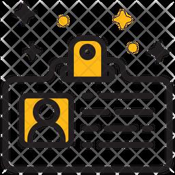 Id Card Dualtone Icon