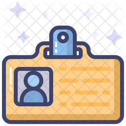 Id Card Colored Outline Icon