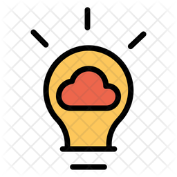 Idea Cloud Icon of Colored Outline style - Available in SVG