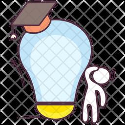 Idea Education Colored Outline Icon