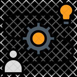 Idea Organization Colored Outline Icon