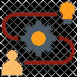 Idea Organization Flat Icon