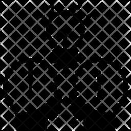 Idea Sharing Glyph Icon