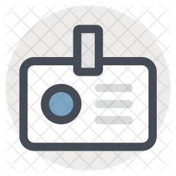 Identification Colored Outline Icon