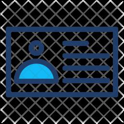 Identification Card Logo Icon